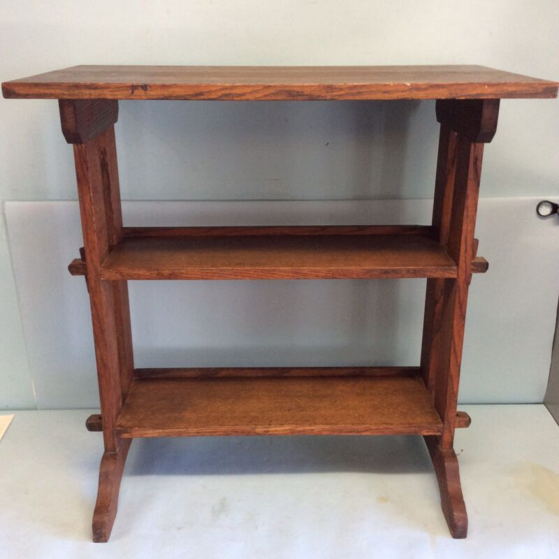 Roycroft Journey Stand, Oak Bookcase Table