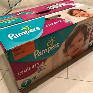 Pampers cruisers, size 7, 2 boxes of 88 count
