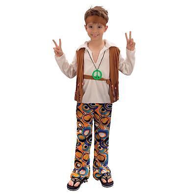 Erwachsene Jungen Mädchen 70's 60er Batik Hippie Kostüm Weste