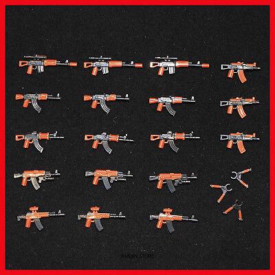 21pcs Custom LEGO Minifigure Toy Guns Military Minifigures Weapon Army Lot - Toy Army Guns
