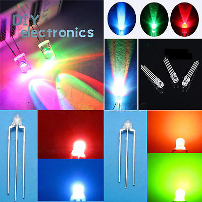 Round/Straw Hat LED 3-10mm RGB/Dual Clear Fast/Slow Flash Diodes US - Straw Hats Cheap