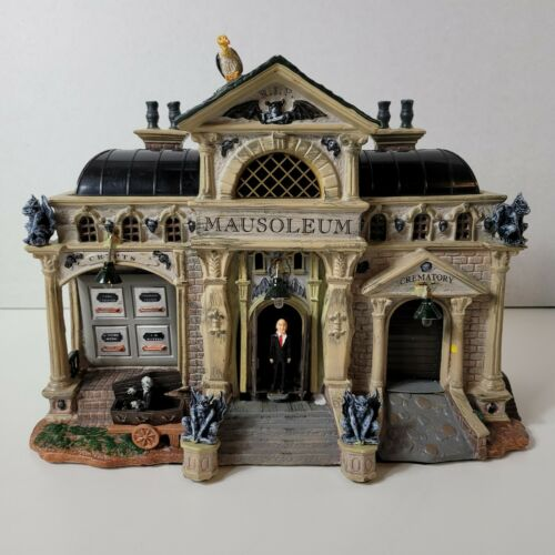 RARE Lemax Spooky Town Rest In Pieces Mausoleum #55233 Retired Halloween! READ!