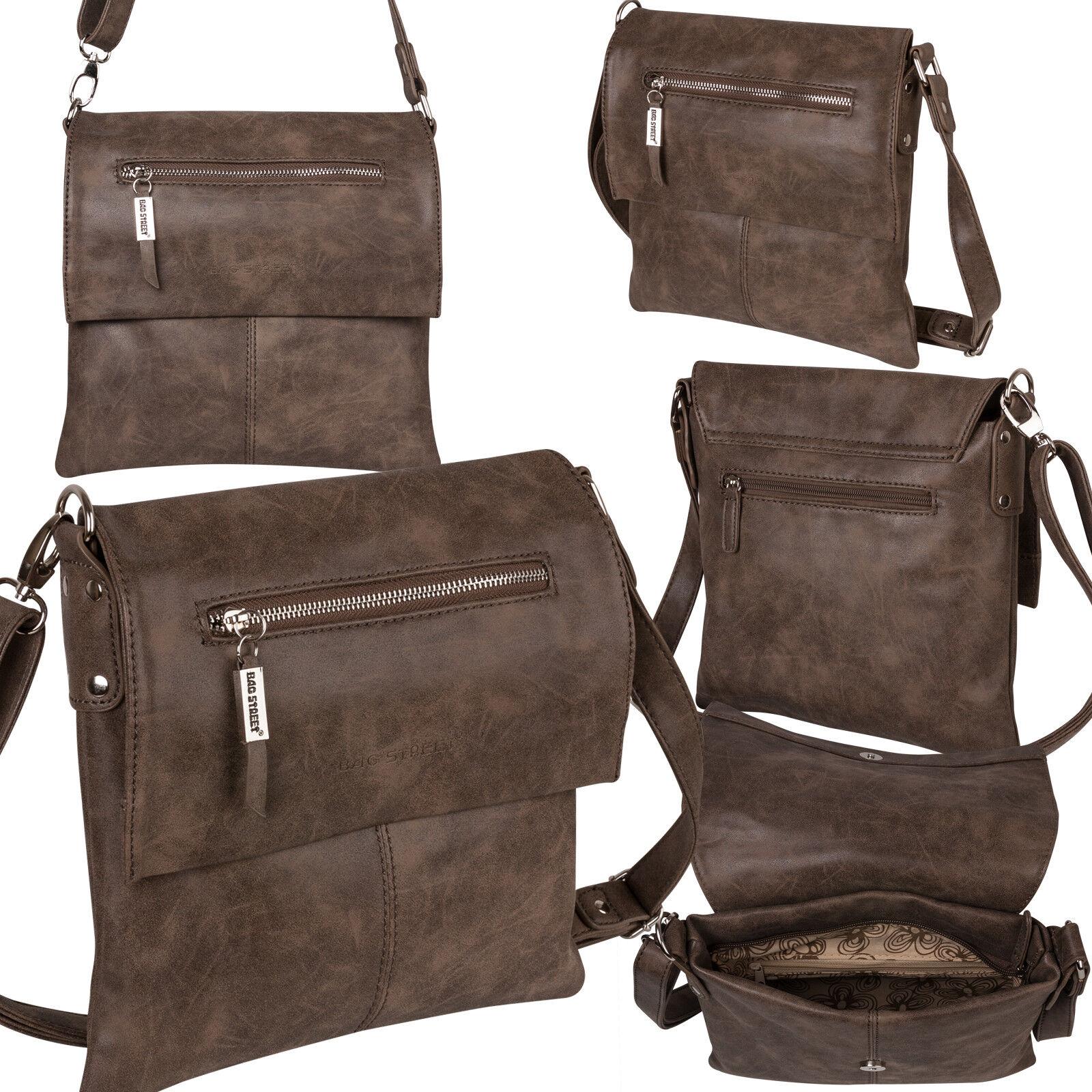 Bag Street Damentasche Umhängetasche Handtasche Schultertasche K2 T0102 Braun