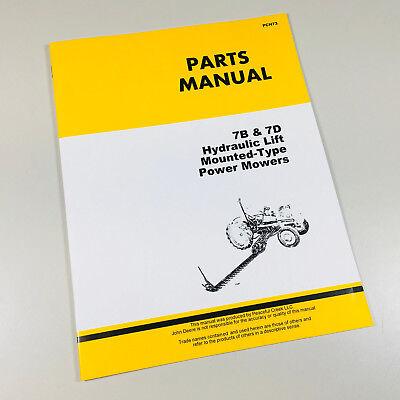Parts Manual For John Deere 7b 7d Mower Catalog For Li Tractor
