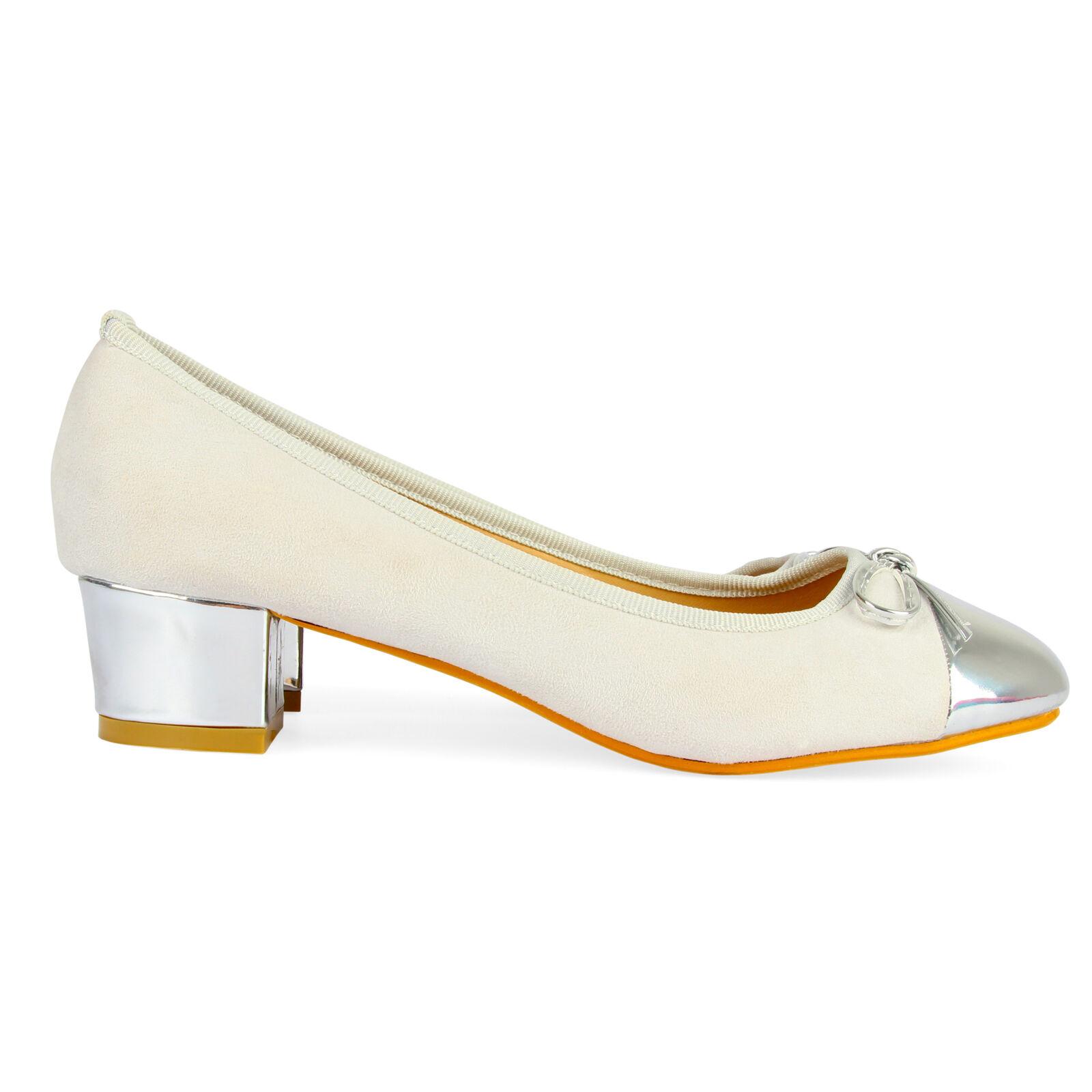New Women/'s Mid Heel Court Shoes Ladies Block Heels Office Ballet Party Pumps