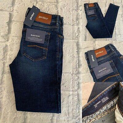 Atelier Gardeur Jeans, 33R, Black Rivet, Tyson, Tapered Fit, 33W, 32L, BNWT