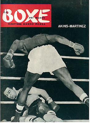 LA BOXE NEL MONDO N. 7 1958 PUGILATO AKINS MARTINEZ