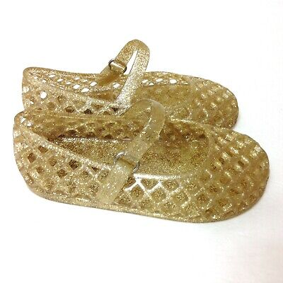 Sparkle Girl Shoes (Toddler Girl (7) GOLD SPARKLE BALLET FLAT SHOES slip-on MESH NET water)