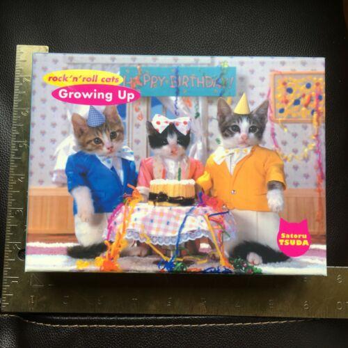 Growing Up Rock N roll cats Blank Greeting Note Cards Satoru Tsuda Kittens 5 x 7