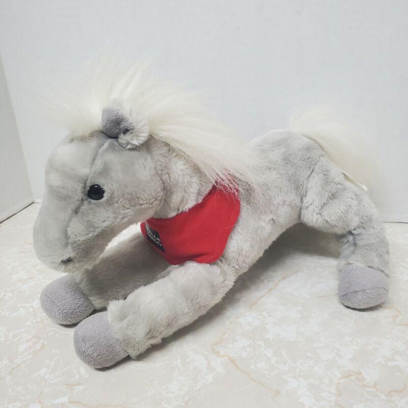 "Wells Fargo Shamrock Legendary Pony 14"" Gray Plush Stuffed Animal Horse 2013"
