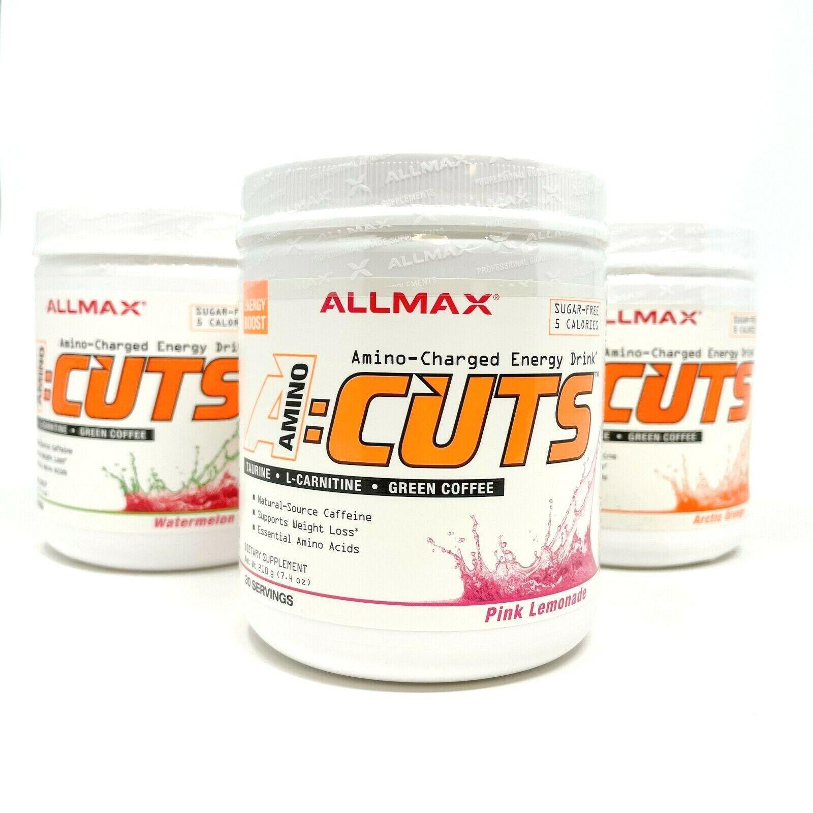 ALLMAX A:CUTS Amino Cuts 30 SRV Weight Loss Burn Fat Best BCAA ON Amino Energy