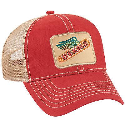 DEKALB SEED *BRICK RED & KHAKI MESH BACK * Logo CAP HAT *BRAND NEW* DS51