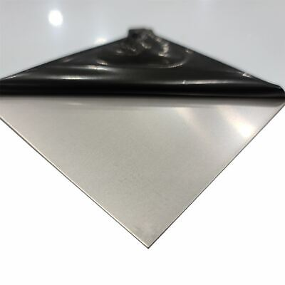 304 Stainless Steel Sheet 0.060 16 Ga. X 12 Inches X 24 Inches Pvc 1 Side