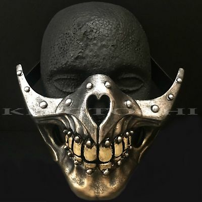 Halloween Dirty Teeth Half Face Skull Costume Party with Elastic Band - Half Skull Costume