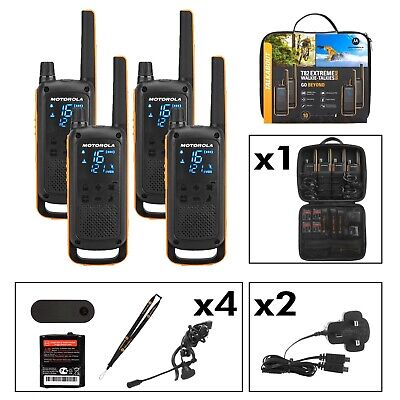Motorola T82 Extreme Walkie Talkie Quad Pack - Licence Free 2 Way Radios PMR446