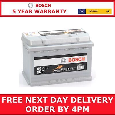 S5 008 Bosch S5 Heavy Duty 096 Car Van Battery S5008 - 5 Year Warranty
