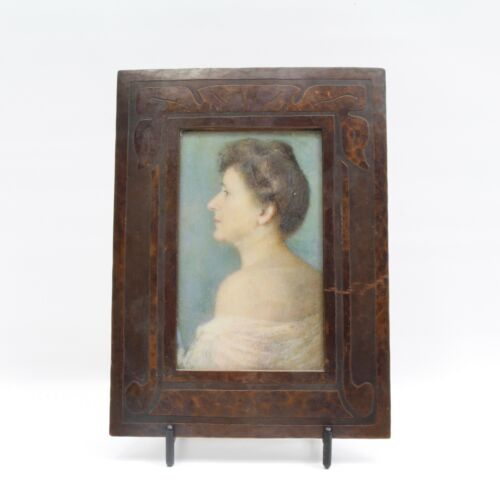 Hand Hammered Copper Arts & Crafts Era Picture Frame Carence Crafters or Frost ?