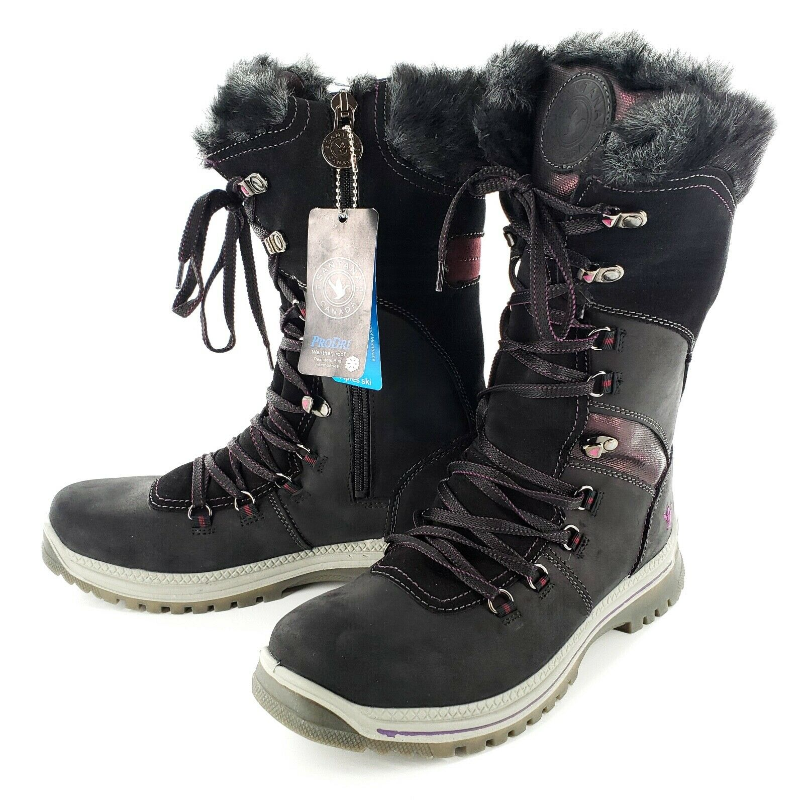 Santana Canada Apres Ski Morella Snow Boots Womens 42/11 Fau