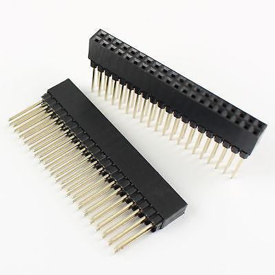 10pcs 2.54mm Pitch 2x20 Pin 40 Pin Female Double Row Long Pin Header Strip Pc104
