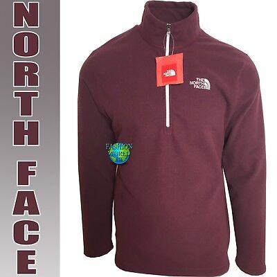 The North Face Men's Size M 100 Glacier 1/4 Zip Fleece Jacket Deep Garnet NWT