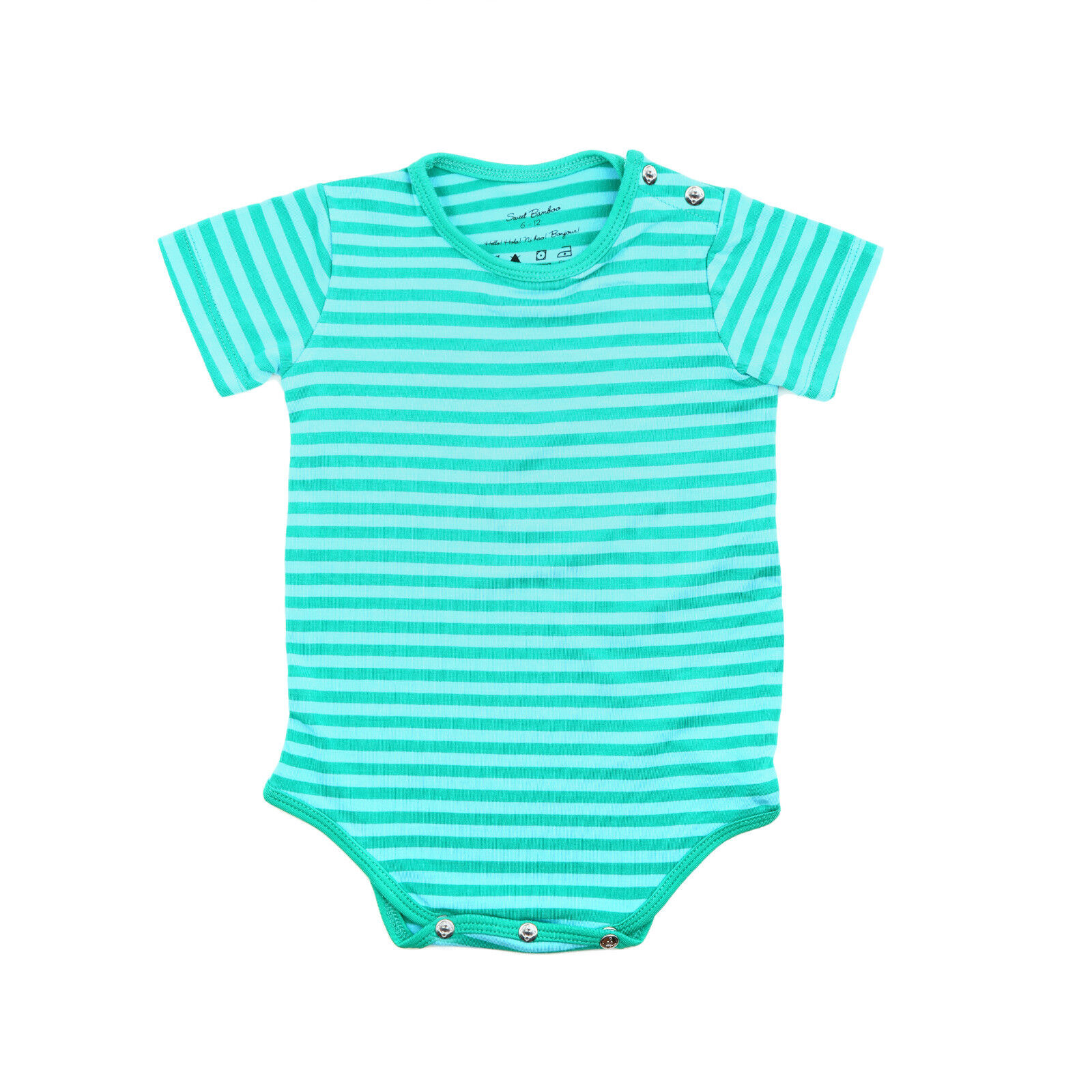 Sweet Bamboo Body Suit | Green Stripe | 12-18mo | Brand New