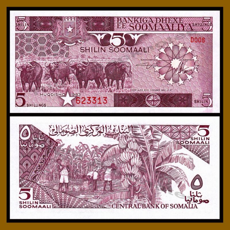 Somalia 5 Shillings (Shilin), 1983 P-31a Unc
