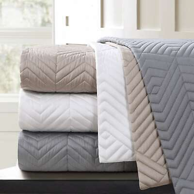 Echelon Home Monterey Quilted Cotton Euro Sham