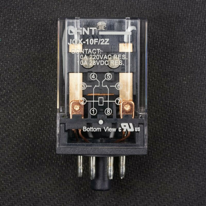 NEW 8 Pin Octal Base 24V AC Relay DPDT General Purpose Plug In Ice Cube 10A