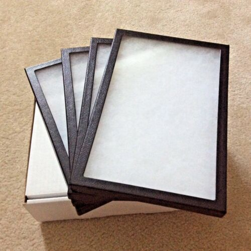 """1 - Box (of 4) 8"""" x 12"""" x 3/4"""" Display Cases (""""Riker"""" type) FREE Shipping"""