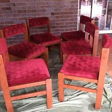 Dining Room Glamour. 6 comfortable Timber Dining Chairs, solid as Burpengary Caboolture Area Preview
