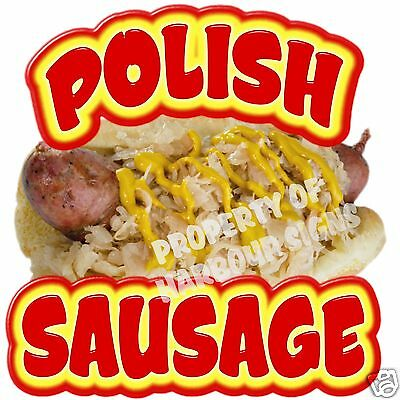 Polish Sausage Decal 14 Hot Dog Concession Restaurant Cart Food Vendor Truck