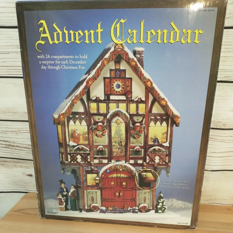 Christmas Advent Calendar #663167 Costco Carolers Victorian House With Box