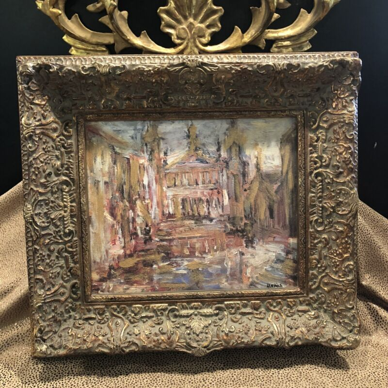 Vintage Art Dreams & Eclectic Art Design Gilt Framed Paris Opera House Painting