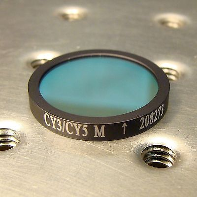 Optical Bandpass Filter For Fluorophores Cy3 Cy5 Cyanine Flourescent Dye 25mm