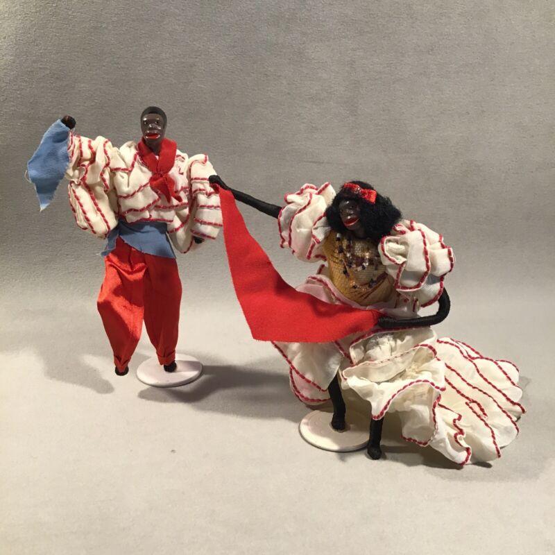 PV06760 Vintage CLUB TROPICANA Afro Cuban Rumba Dancer Souvenir Costume Dolls