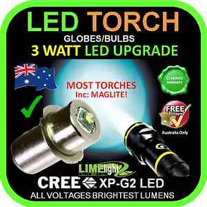 LED BULB UPGRADE for MAGLITE TORCH-DOLPHIN FLASHLIGHT-TOOL LIGHT Balwyn North Boroondara Area Preview