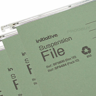 20 x Green Foolscap Hanging Suspension Files Tabs Inserts Filing Cabinet Folders