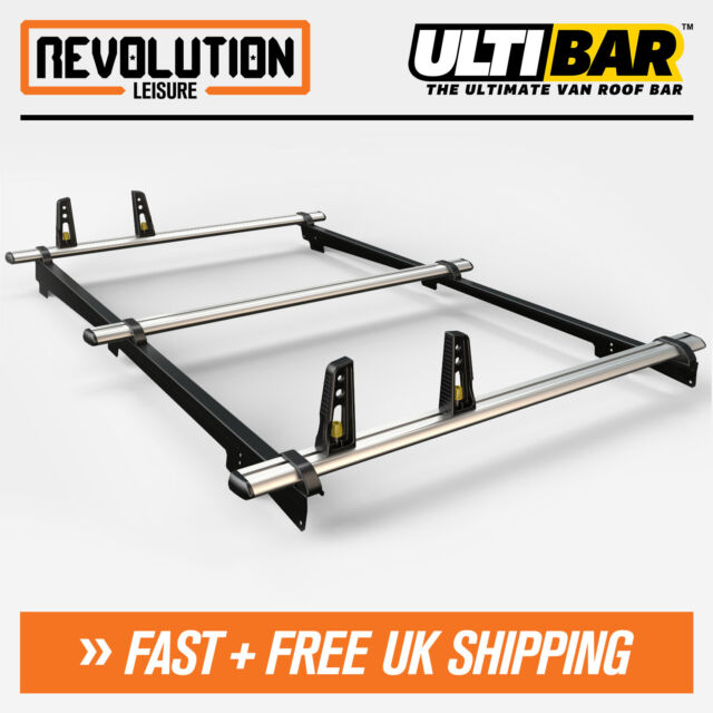 Vauxhall Astravan 08-13, Estate 08-10 Flush Roofrailings Van Guard 3 x ULTI Bars