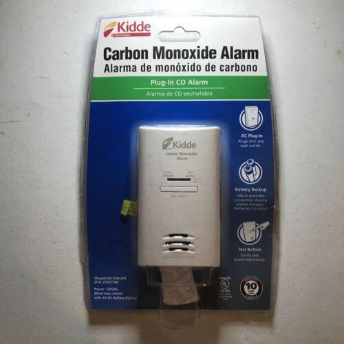 Kiddie Carbon Monoxide Alarm White Plug In Battery Back Up K