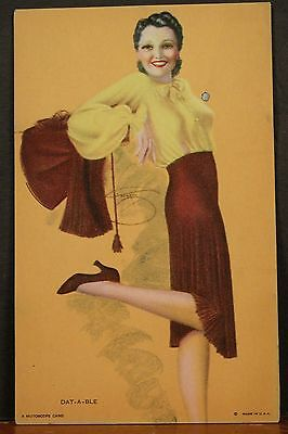 Billy Devorss Glamourous Mutoscope Card Mint Pinup Dat-A-Ble