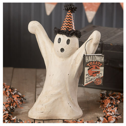 """12"""" Bethany Lowe Spooky Party Ghost Halloween Figurine Retro Vintage Style Decor"""