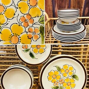 Set of 18 excellent condition retro dishes