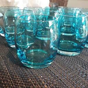 (12) BEAUTIFUL AQUA AMARA TEALIGHT CANDLE HOLDERS/SCOTCH GLASSES Upper Kedron Brisbane North West Preview