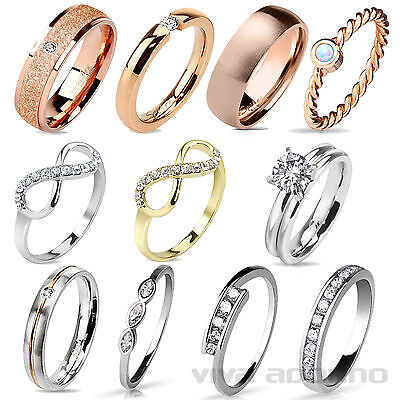 Damen Ring Band Ring Fingerring Verlobungsring Edelstahl Ring Messing Ring RS57 online kaufen
