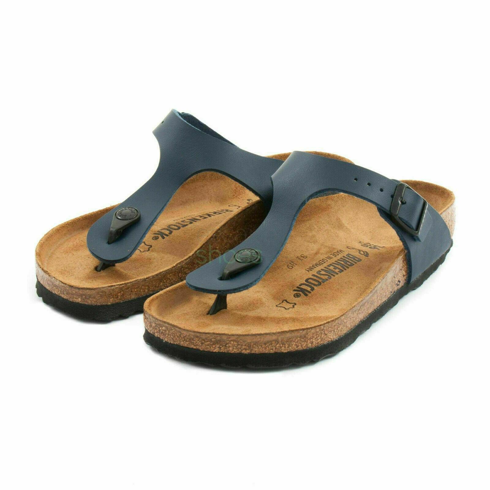 Birkenstock Gizeh Birko Flor Regular Fit Womens Thong Sandals Blue Size 2.5 8UK