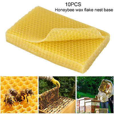 10pcsset Honeycomb Foundation Bee Hive Wax Frames Beekeeping Equipment Sheet Us