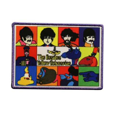 The Beatles Yellow Submarine Band Members Printed Sew On Patch -  074-Z
