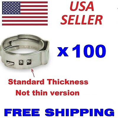 100 38 Pex Stainless Steel Clamps Cinch Pinch Rings Astm Nsf Certified Ssc-3