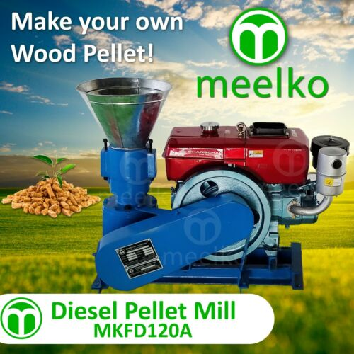 PELLET MILL 8 HP DIESEL ENGINE MIAMI USA SHIPPING (6mm wood)