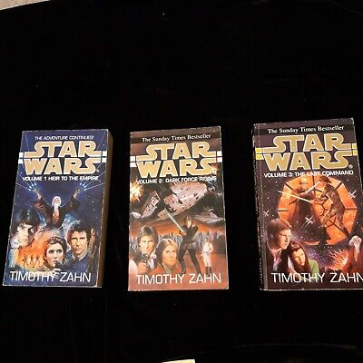 Star Wars Heir To The Empire Thrawn Trilogy by Timothy Zahn (Paperback, 1994)